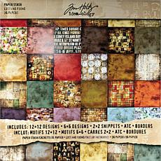 Tim Holtz Double-Sided Paper Pad 12 x 12 Lost and Found