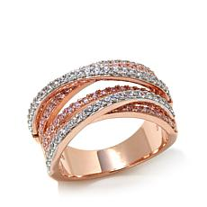 Victoria Wieck 0.79ctw Absolute™ Rose Vermeil Wrap Ring