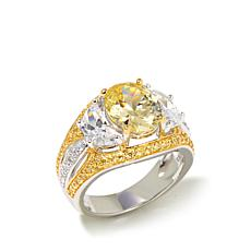 Victoria Wieck 4.92ct Absolute™ Clear and Canary Ring