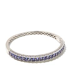 Victoria Wieck 4.99ctw Tanzanite Sterling Silver Bangle