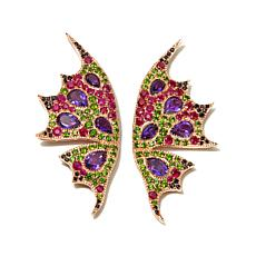 "Victoria Wieck Multigemstone ""Butterfly"" Earrings"