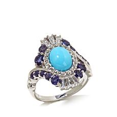 Victoria Wieck Turquoise, Topaz and Iolite Ring