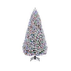 Winter Lane 9' Lighted Flocked Artificial Tree