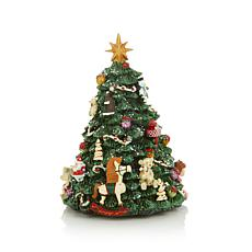 Winter Lane Revolving Musical Christmas Tree