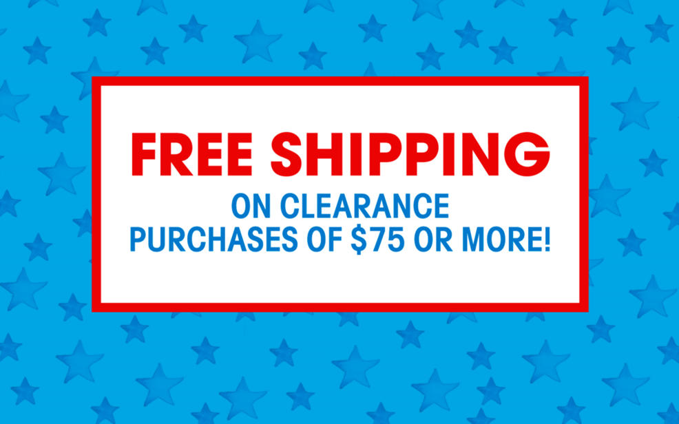 free shipping on clearance of $75 or more