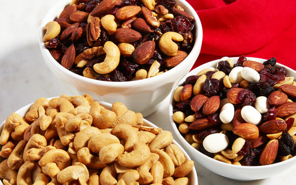 Food: Nuts in bowls