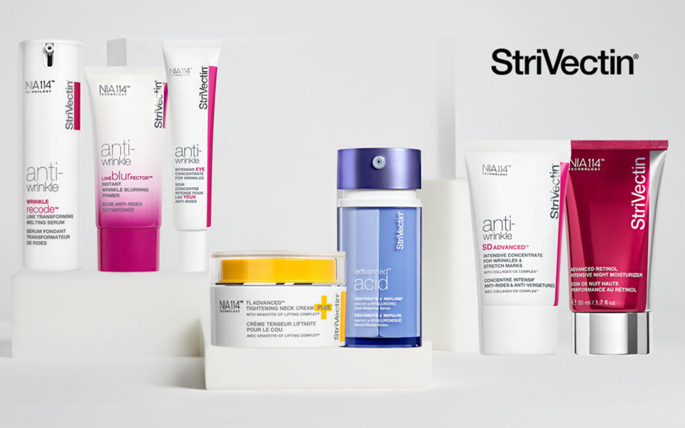 Strivectin logo and products