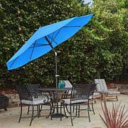 10' Auto-Tilt Patio Umbrella with Easy Crank - Brilliant Blue