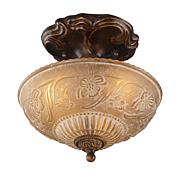 "10"" Restoration Semi-Flush Ceiling Light - Gold Bronze"