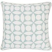 "18"" x 18"" Circle Design Pillow - Spa/White"