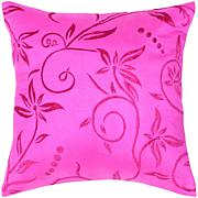 "18"" x 18"" Tropical Vines Pillow - Hot Pink"
