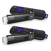 2-pack Roku Stick+ 4K UHD HDR Media Streamers with Remotes & Vouchers