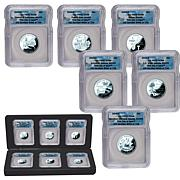2009 6-piece PR70 DC and Territorial State Quarters FDOI LE 729