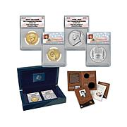 2015 ANACS 70 FDOI John F. Kennedy Coin and Chronicles