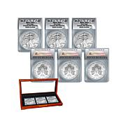 2016 MS70 PSW Silver Eagle Complete Mint Set