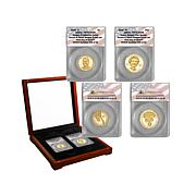 2016 PR70 ANACS FDOI 22 Ronald & Nancy Reagan Coin Set