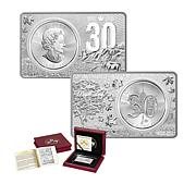 2018 Limited Edition 30th Anniversary Silver Maple Leaf/2oz Silver Bar