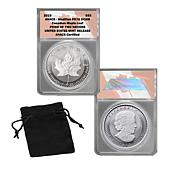 2019 U.S. Pride of 2 Nations Modified PR70 $5 Canada Silver Maple L...