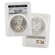 2019-W MS69 PCGS Premier Label First Edition Silver Eagle Dollar Coin