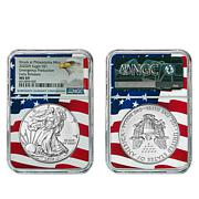2020 MS69 NGC Early Release Silver Eagle Dollar Coin with Flag Core