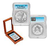 2020-P MS70 ICG FDOI LE 1,847 Emergency Silver Eagle Dollar Coin