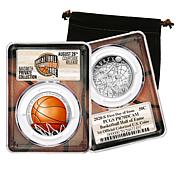 2020 PR70 PCGS Colorized FDOI Basketball Hall of Fame Half Dollar