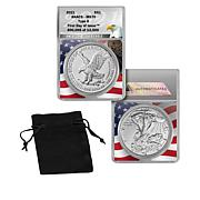 2021 MS70 ANACS First Day of Issue LE 13,500 Type II Silver Eagle