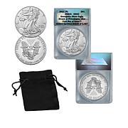 2021 Philadelphia Mint MS69 FDOI LE 3987 Emergency Silver Eagle Dollar