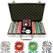 300 15 Gram Clay Las Vegas Chip Set w-Aluminum Case
