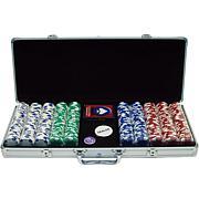 500 11.5 Gram Hold 'em Poker Chip Set with Case