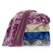 A by Adrienne Landau Marbled Faux Fur Throw