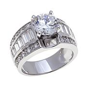 Absolute™ 4.22ctw Cubic Zirconia Ring