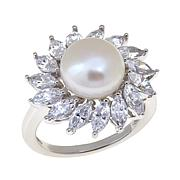 Absolute™ and Cultured Pearl Marquise Ring