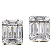 Absolute™ Emerald-Cut and Round Stud Earrings