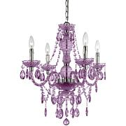 AF Lighting Naples 4-Light Mini Chandelier - Lt. Purple