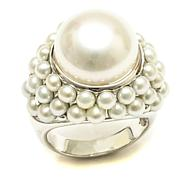 Amara Jewelry Collection Cultured Freshwater Pearl Cluster Ring