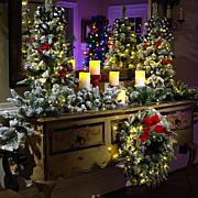 """American Tree & Wreath 36"""" Flocked Color-Changing Tree with Remote"""