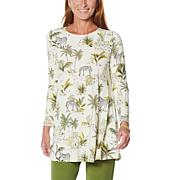 "Antthony ""All For You"" Long-Sleeve Printed Tunic"
