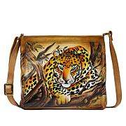 Anuschka Hand-Painted Leather Crossbody Organizer