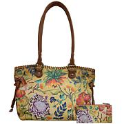 Anuschka Hand-Painted Leather Double Handle Large Tote