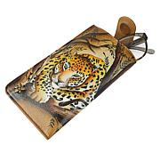 Anuschka Hand-Painted Leather Eye Glass Case