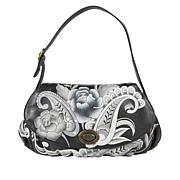 Anuschka Hand-Painted Leather Ruched-Flap Bag