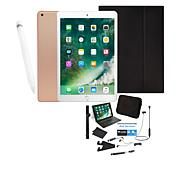 "Apple iPad® 9.7"" 32GB (Latest Model) w/Pencil & Keyboard Case - Gold"