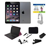 Apple iPad Mini™ 4 128GB Wi-Fi Tablet w/Case & Accessories - Gray