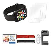 Apple Series 3 38mm Water-Resistant Sports Watch w/GPS & Extra Bands