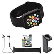 Apple® Series 3 42mm Water-Resistant Watch w/Extra Band & Headphones
