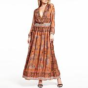 Aratta Stand Out Hand Beaded Maxi Dress
