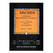 "Arches Watercolor Pad - 10"" x 14"" Rough 140 lb."