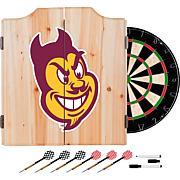 Arizona State Univ Dart Cabinet with Darts and Board