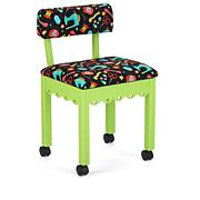 Arrow Sewing Chair with Seat Storage - Green/White